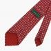 Красный шёлковый галстук с мелким цветочным узором VARSUTIE