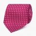 Пурпурный шёлковый галстук с мелким цветочным узором VARSUTIE