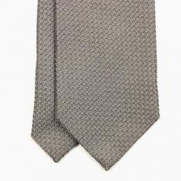 Серо-бежевый галстук из шёлка-гренадина VARSUTIE