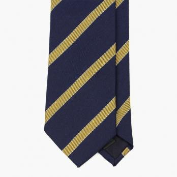 Синий шелковый галстук в полоску VARSUTIE