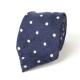 Синий галстук в горошек из шерсти и шёлка VARSUTIE