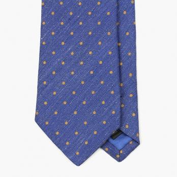 Синий галстук в горошек VARSUTIE