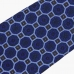 Синий галстук из гладкой шерсти VARSUTIE с узором фуляр