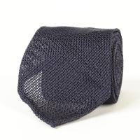 Синий галстук из шелка-гренадина VARSUTIE