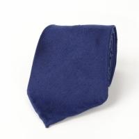 Синий галстук из шелка шантунг (Shantung) VARSUTIE
