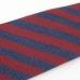 Красно-синий галстук в полоску из шерсти и шёлка VARSUTIE