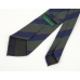 Зеленый галстук в синюю полоску из шелка шантунг (Shantung) VARSUTIE