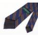 Синий галстук в коричневую полоску из шелка шантунг (Shantung) VARSUTIE