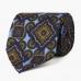 Шелковый галстук с крупным орнаментом в синих тонах VARSUTIE