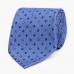 Синий шёлковый галстук с мелким цветочным узором VARSUTIE