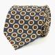 Синий шёлковый галстук с узором фуляр VARSUTIE