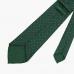 Зеленый шёлковый галстук с цветочным узором VARSUTIE