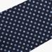 Темно-синий шёлковый галстук с мелким цветочным узором VARSUTIE