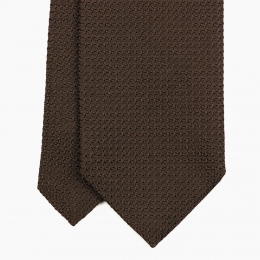 Тёмно-коричневый галстук из шёлка-гренадина VARSUTIE
