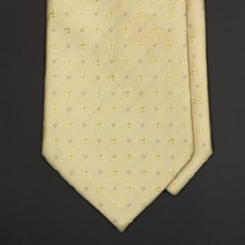 Ванильно-желтый шелковый галстук GIORGIO ARMANI