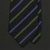 Полковой черный галстук ATKINSONS в синюю и зеленую полоску