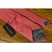 Красный винтажный галстук FERRE с цветочным стилизованным рисунком