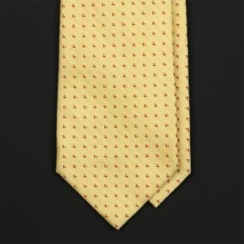 Винтажный желтый шелковый галстук BARBA