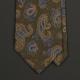 Зеленый шёлковый галстук LODEN FREY с узором пейсли