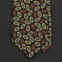 Шёлковый галстук с рисунком LODEN FREY в синих, зеленых и красных тонах