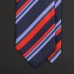 Красно-синий полосатый шелковый галстук ASCOT