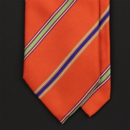 Оранжевый галстук в полоску EDDY MONETTI