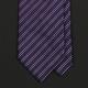 Cиреневый галстук в тонкую полоску FUENTECAPALA из шелка и хлопка
