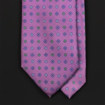 Сиреневый галстук с узором фуляр EDDY MONETTI