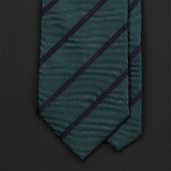 Темно-зеленый галстук в полоску FUENTECAPALA