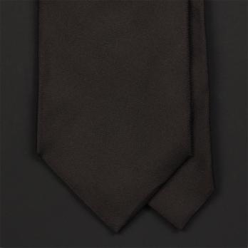 Темно-коричневый галстук ULTURALE из атласного шелка