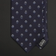 Темно-синий шелковый галстук VITALIANO PANCALDI с геометрическим рисунком