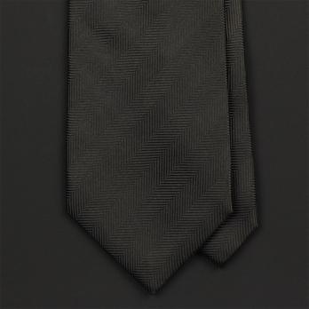 Темно-коричневый галстук в полоску FUENTECAPALA из шелка