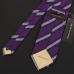 Cиреневый галстук в полоску FUENTECAPALA из шелка и хлопка