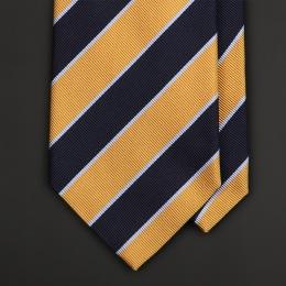 Желто-синий галстук полоску FUENTECAPALA из шелка и хлопка