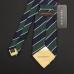Сине-зеленый галстук полоску FUENTECAPALA из шелка и хлопка