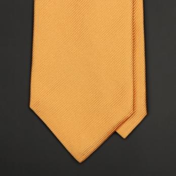 Янтарно-желтый шелковый галстук ERMENEGILDO ZEGNA