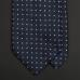 Темно-синий шелковый галстук RAVAZZOLO с мелким рисунком фуляр