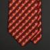 Шелковый галстук LANVIN в желто-бордовых тонах