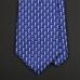 """Синий шелковый галстук MICHELSONS OF LONDON с рисунком """"Морские коньки"""""""