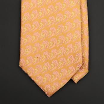 Персиково-желтый шелковый галстук FREY WILLE