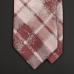 Жемчужно-пыльно-розовый галстук KENZO с клетчатым и растительным орнаментом