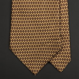 Золотисто-горчичный шелковый галстук MASSIMO TROVATO