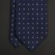 Темно-синий галстук в мелкий фуляр CAMICISSIMA
