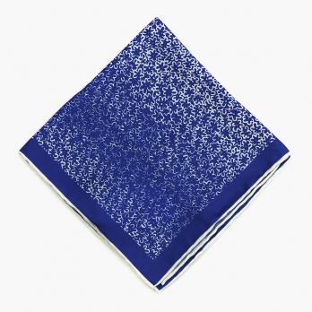 Синий шелковый платок с цветочным орнаментом OLYMP