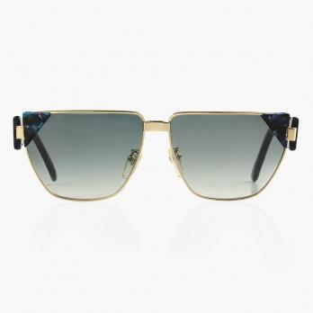 Солнцезащитные винтажные очки PAOLO GUCCI с синей оправой