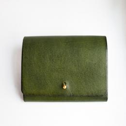 Зелёный кошелёк на кнопке КУЗНЕЦОВ & ЯКУНИНА