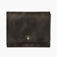 Серо-коричневый кошелёк на кнопке КУЗНЕЦОВ & ЯКУНИНА