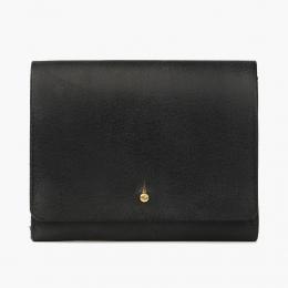 Чёрный кошелёк на кнопке КУЗНЕЦОВ & ЯКУНИНА