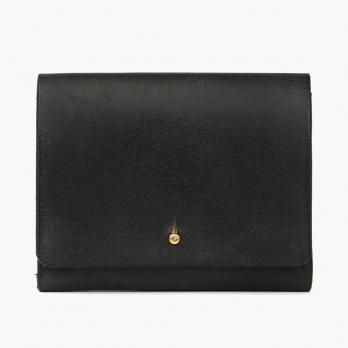 Чёрный кошелёк на кнопке IKKY