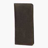 Тёмно-коричневое портмоне из зернистой кожи E.K.GOODS